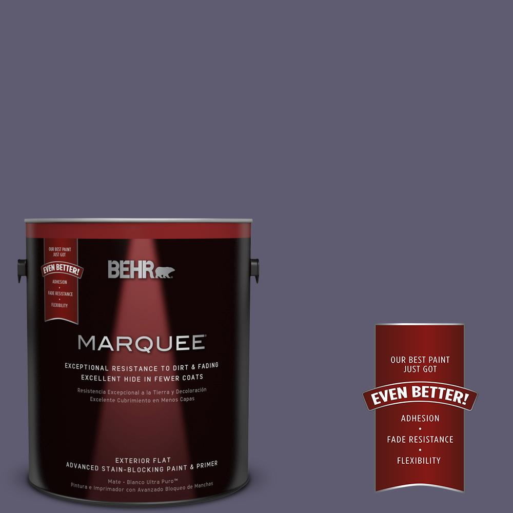 1-gal. #PMD-90 Luscious Purple Flat Exterior Paint
