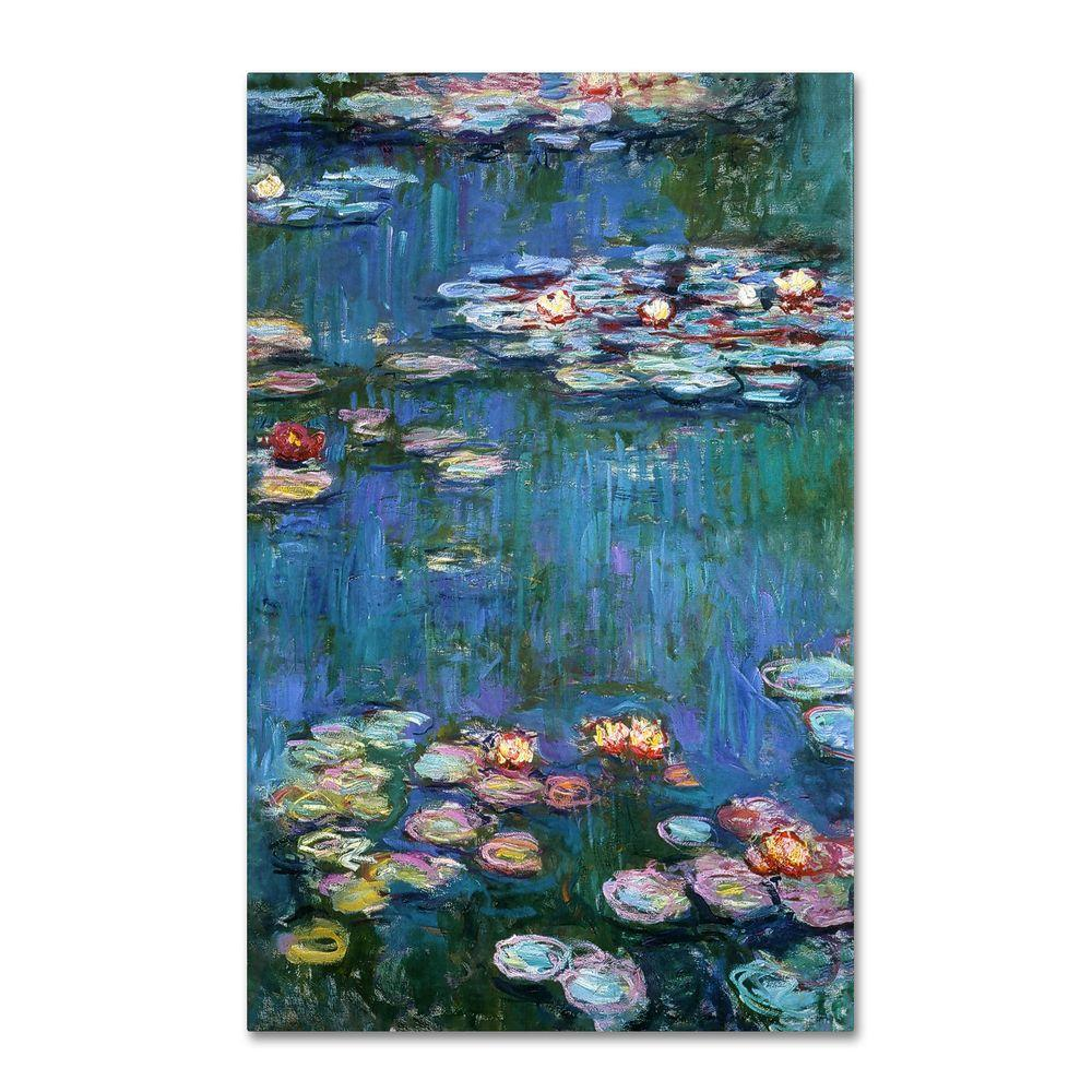 14 in. x 19 in. Water Lilies Classic Canvas Art