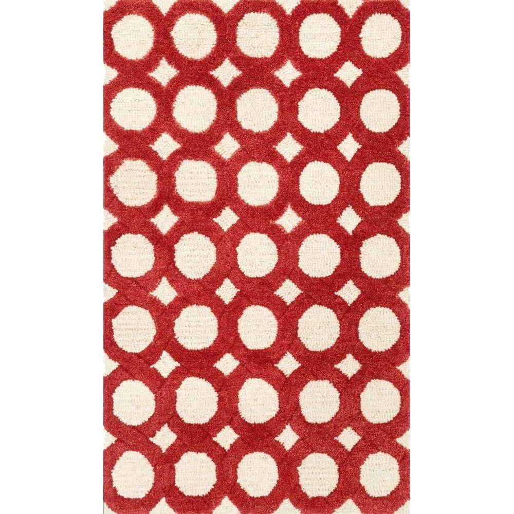 Weston Lifestyle Collection Ivory/Red 2 ft. 3 in. x 3 ft.