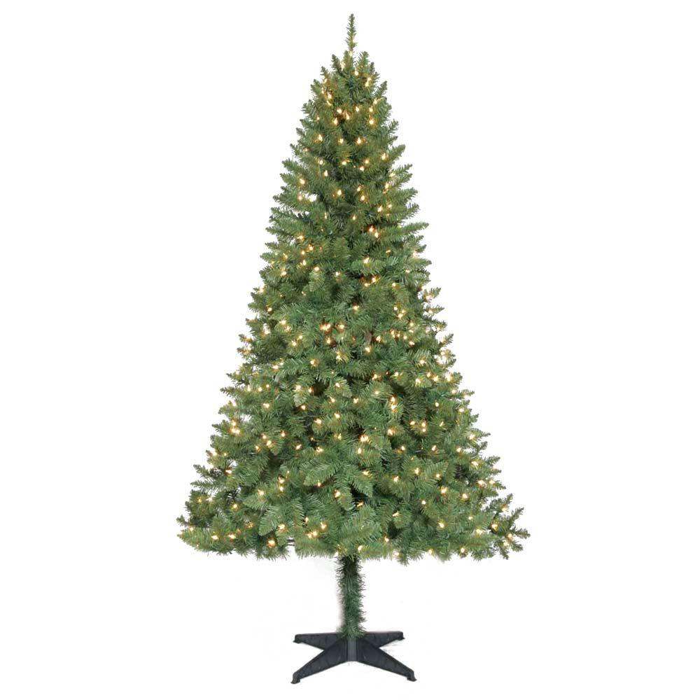 Home Accents Holiday 6.5 ft. Pre-Lit Verde Pine Christmas Tree with Clear Lights