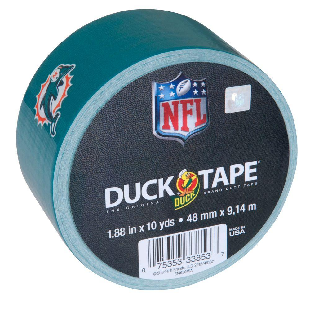 Duck 1.88 in. x 10 yds. Miami Dolphins Duct Tape (Case of 18)
