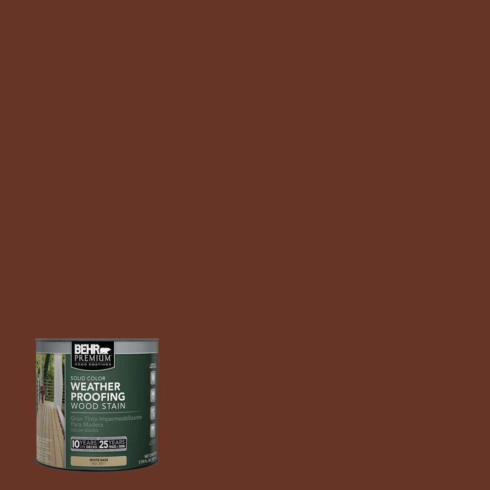 BEHR Premium 8 oz. #SC118 Terra Cotta Solid Color Weatherproofing All-In-One Wood Stain and Sealer Sample