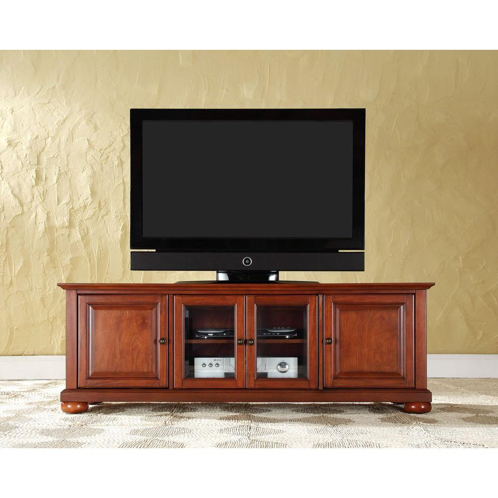 Crosley Alexandria Low Profile TV Stand in Cherry-KF10005ACH - The Home