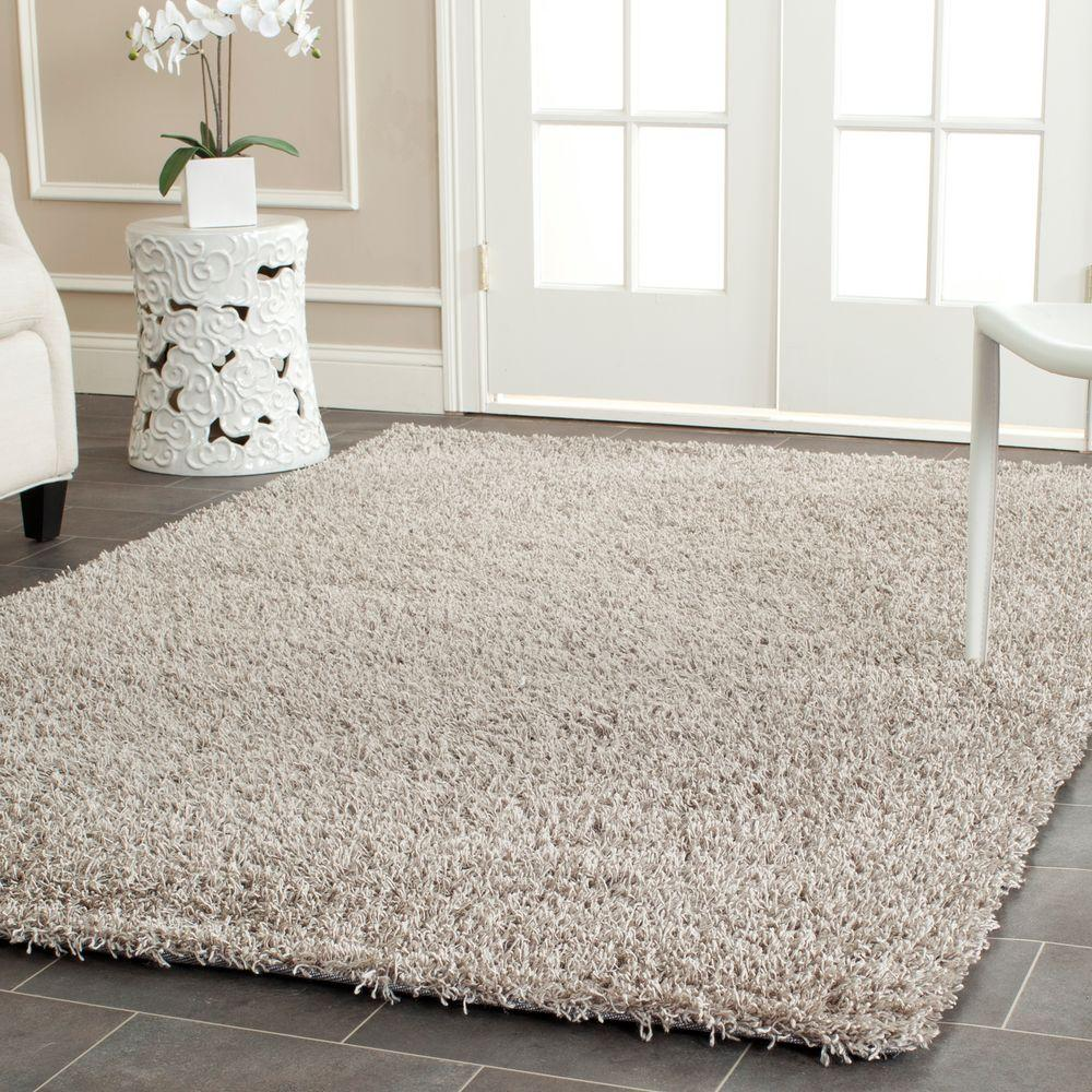 Monterey Shag Silver 8 ft. x 10 ft. Area Rug