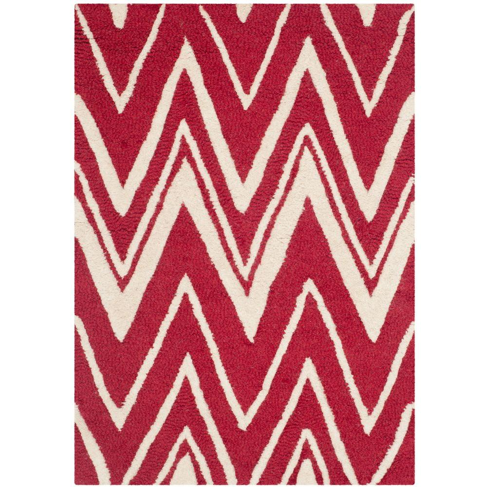 Cambridge Red/Ivory 3 ft. x 5 ft. Area Rug
