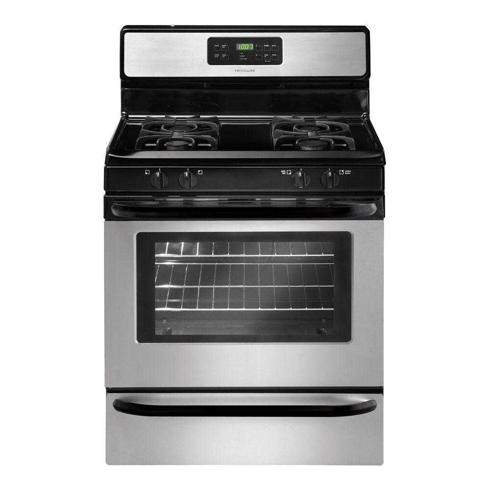 Frigidaire 30 in. 5.0 cu. ft. Gas Range with Self-Cleaning Oven in Stainless Steel