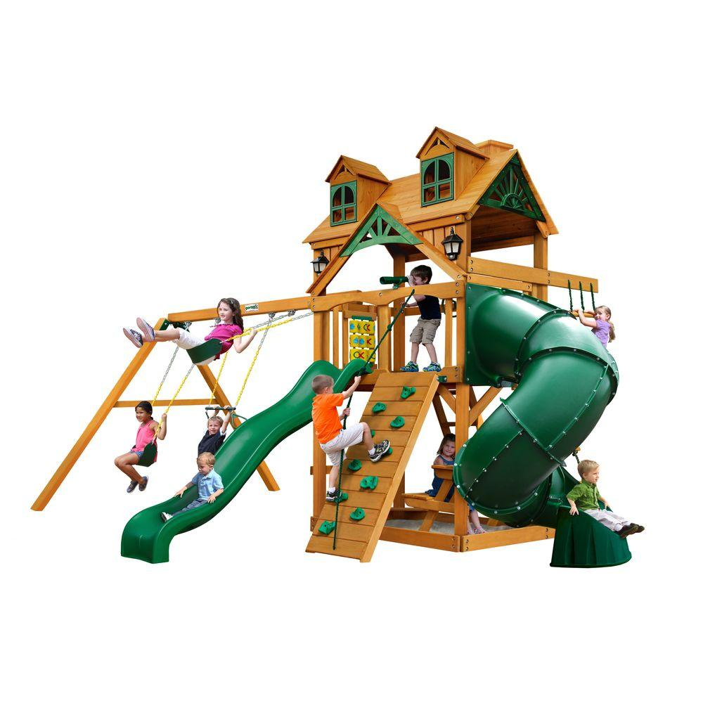 Gorilla Playsets Malibu Extreme with Amber Posts, Browns/Tans