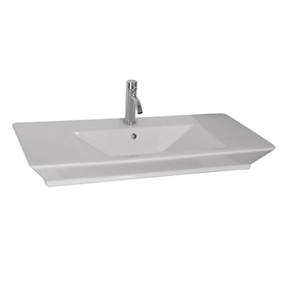 Barclay Products Aristocrat 19-3/8 in. Above Counter Sink Basin in White