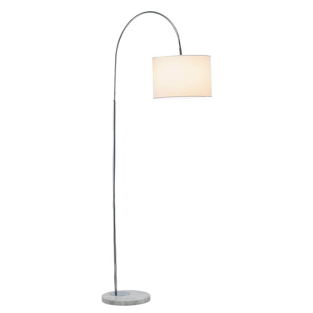 Adesso Grace 68-1/2 in. H Chrome Floor Lamp