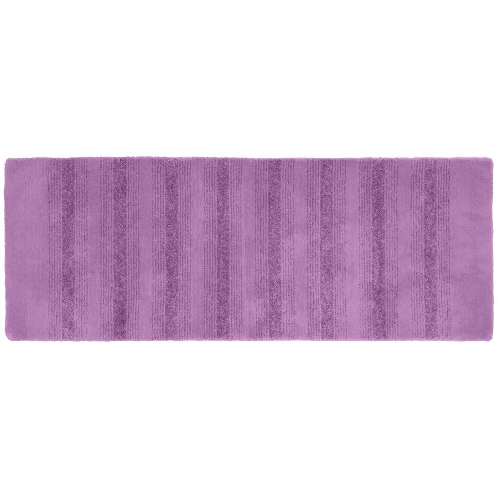 Garland rug essence purple 22 in x 60 in washable for Rugs with purple accents