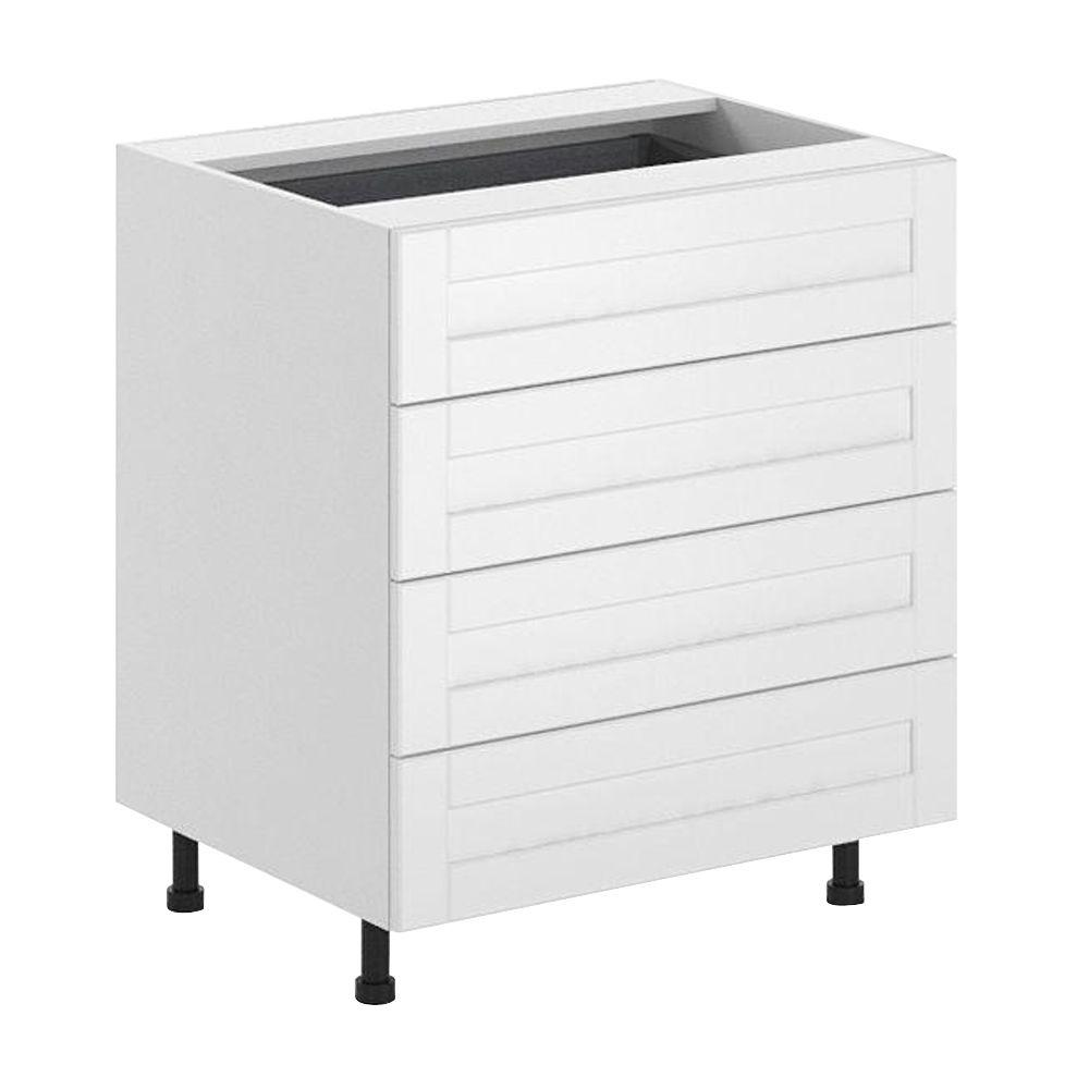 Fabritec Ready to Assemble 30x34.5x24.5 in. Amsterdam 4-Drawer Base Cabinet in