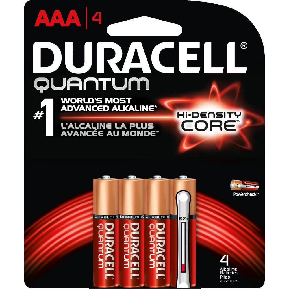 Quantum Alkaline AAA Battery (4-Pack)