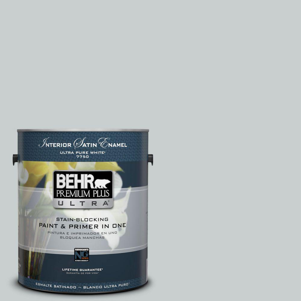 BEHR Premium Plus Ultra 1-gal. #720E-2 Light French Gray Satin Enamel Interior Paint