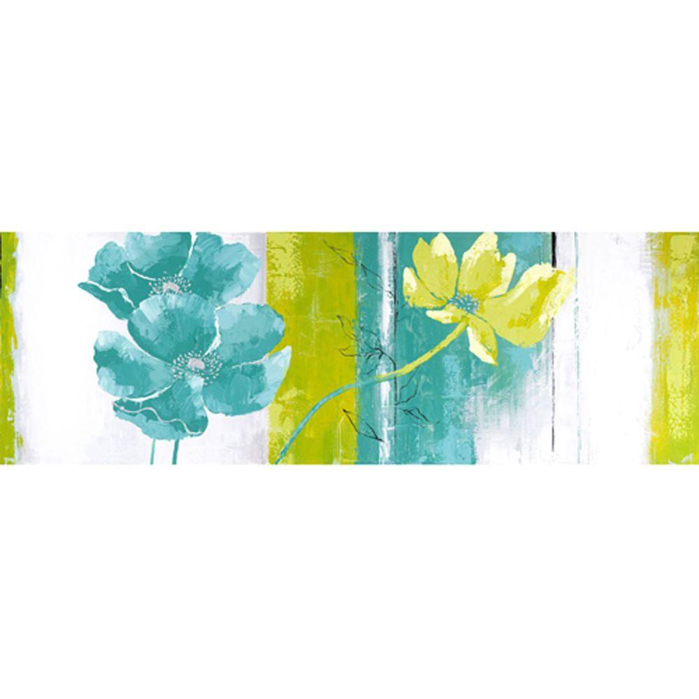 "Yosemite Home Decor 59 in. x 20 in. ""Blues and Greens I"" Hand Painted Contemporary Artwork"