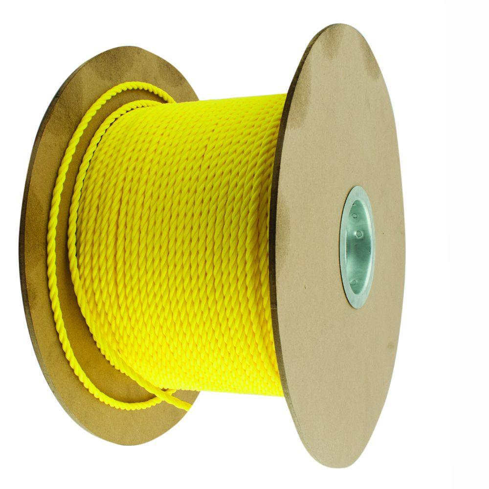3/4 in. x 150 ft. Yellow Twisted Polypropylene Rope