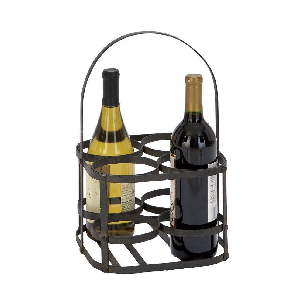 Home Decorators Collection 9 in. W Wine Holder in Indira Black-DISCONTINUED