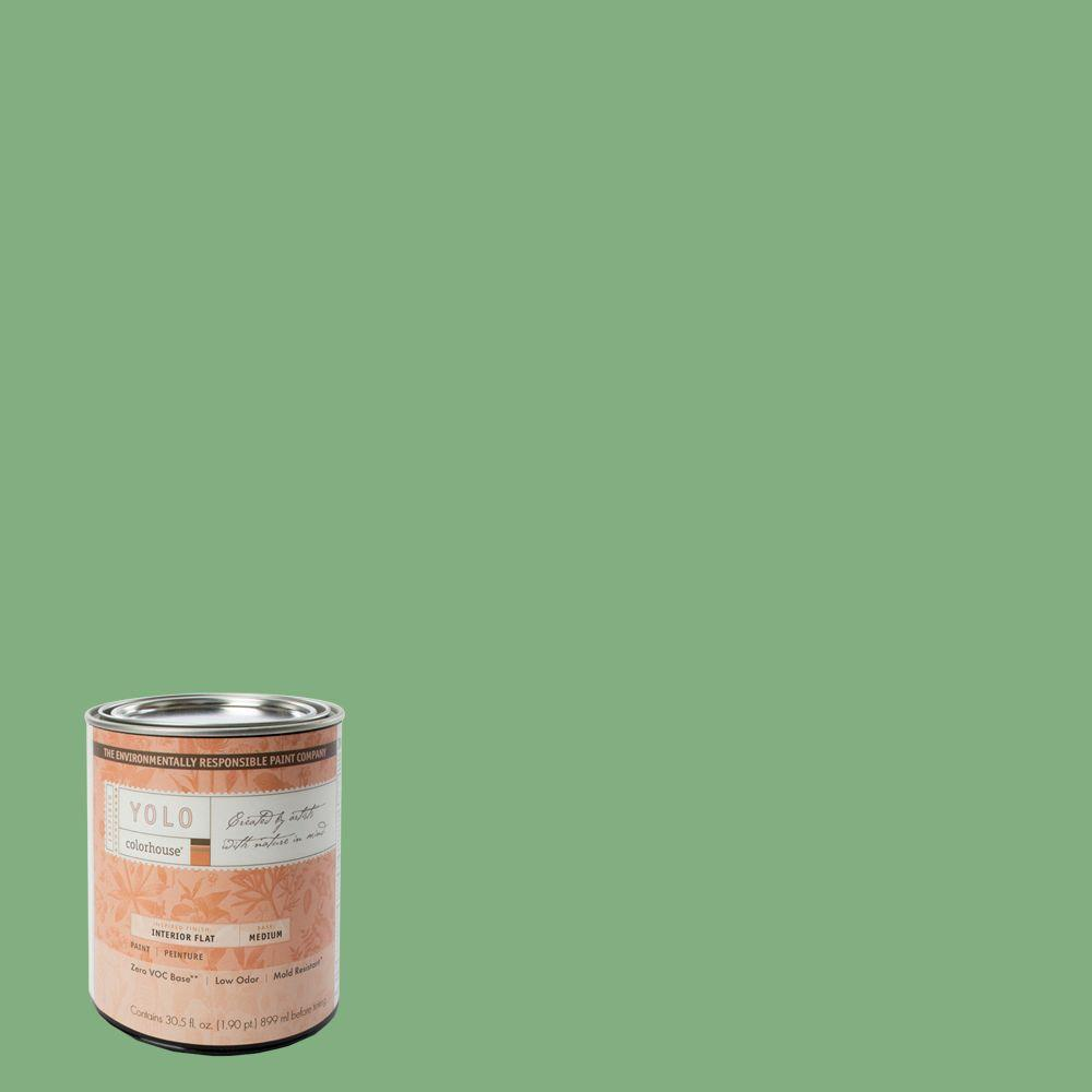 YOLO Colorhouse 1-Qt. Thrive .05 Flat Interior Paint-DISCONTINUED