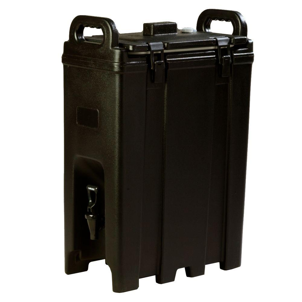 Carlisle Cateraide 5 gal. Nylon Latch Black Insulated Beverage Server-LD500N03 -