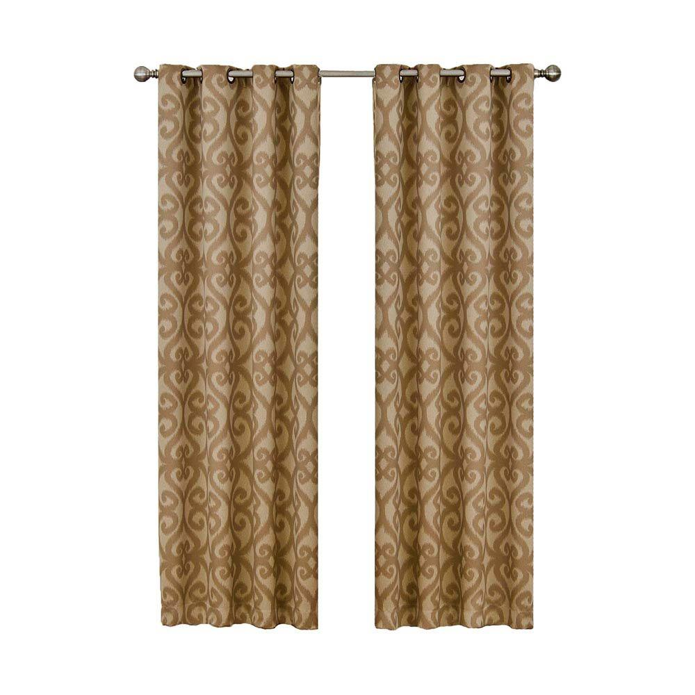 Eclipse Patricia Blackout Cafe Grommet Curtain Panel, 95 in. Length (Price Varies by Size)