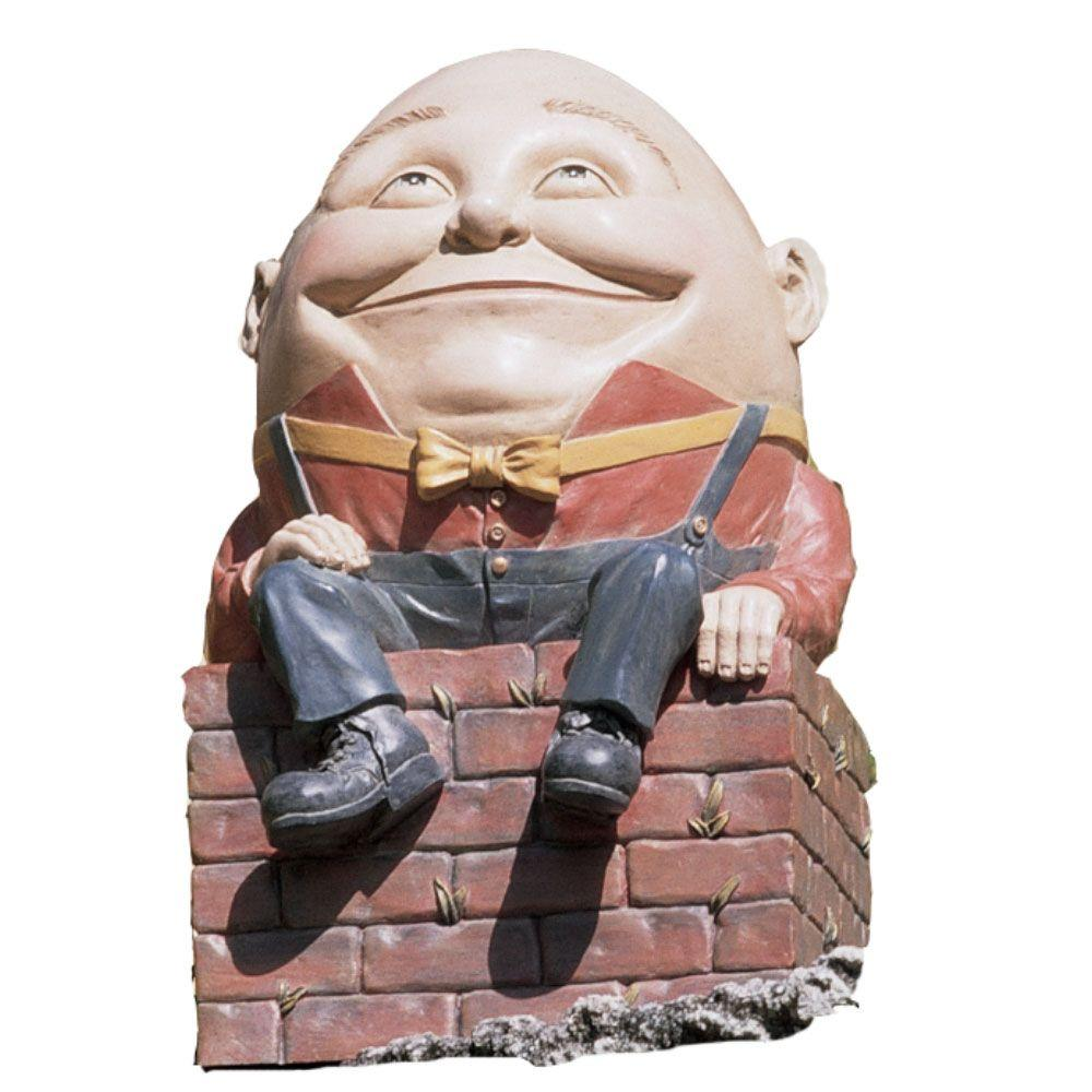 Design Toscano 18-1/2 in. Humpty Dumpty Statue-DISCONTINUED