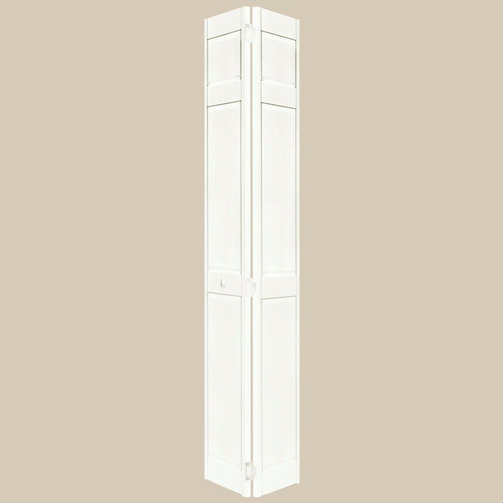 Home Fashion Technologies 2 in. Louver/Louver Behr Swiss Coffee Solid Wood Interior Bifold Closet Door-DISCONTINUED