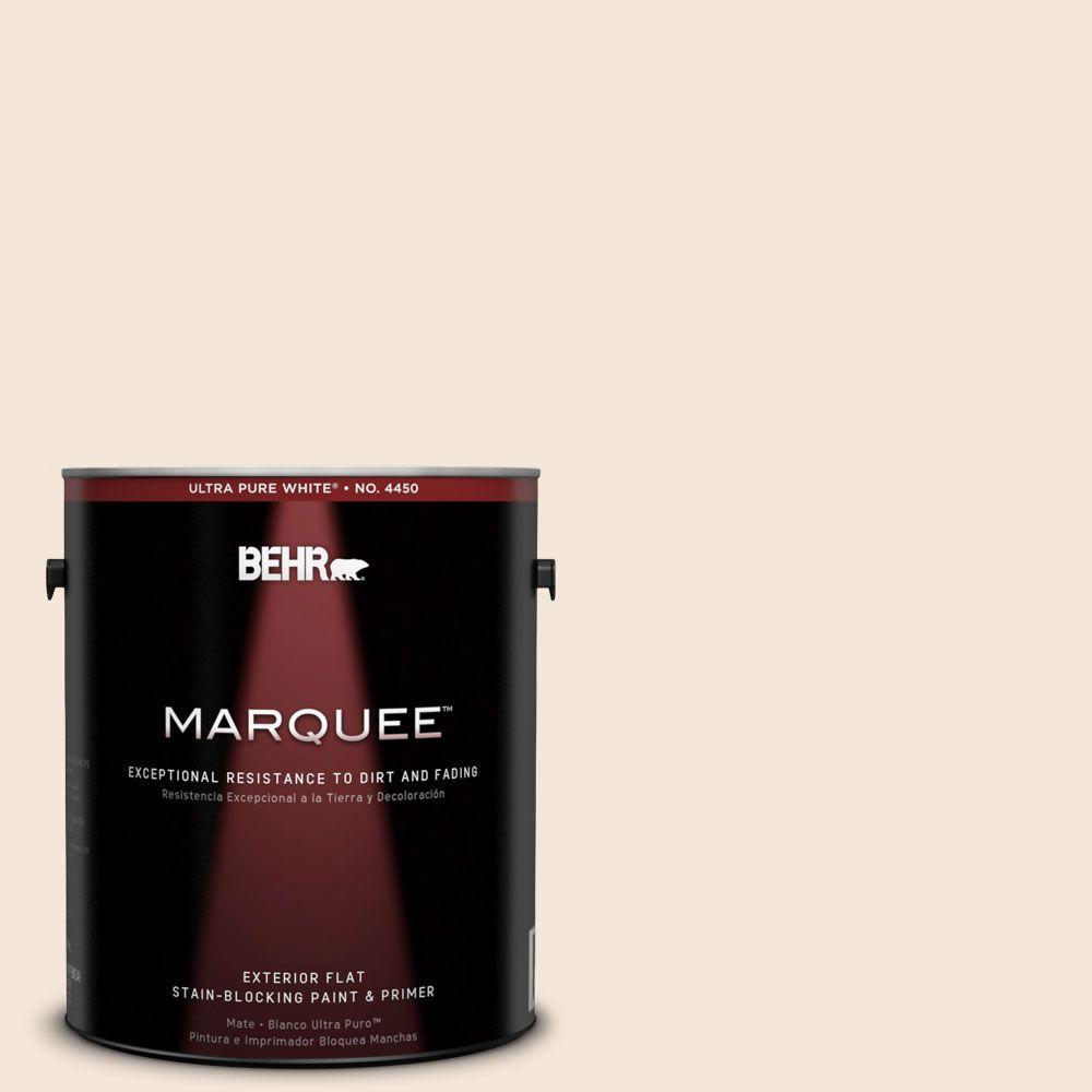 BEHR MARQUEE 1-gal. #280E-1 Heirloom Lace Flat Exterior Paint