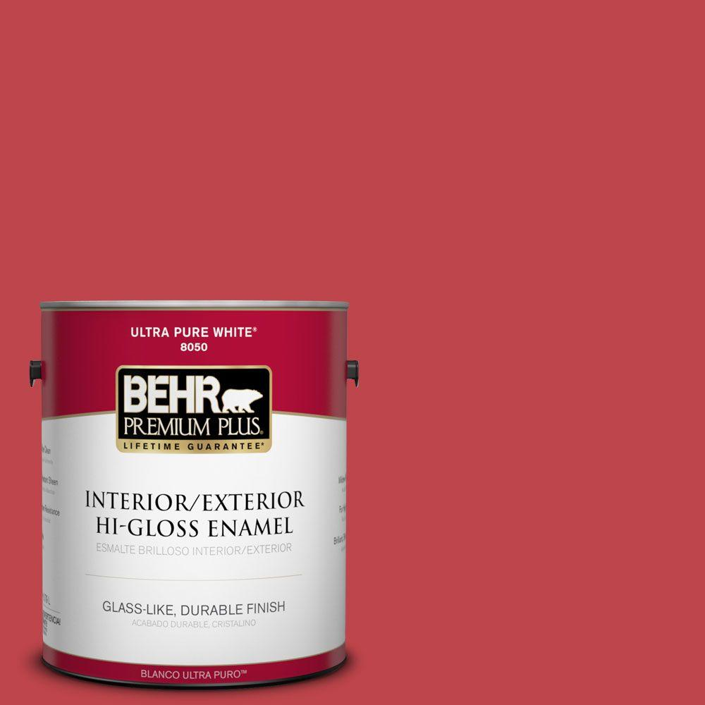 Home Decorators Collection 1-gal. #HDC-FL13-1 Glowing Scarlet Hi-Gloss Enamel