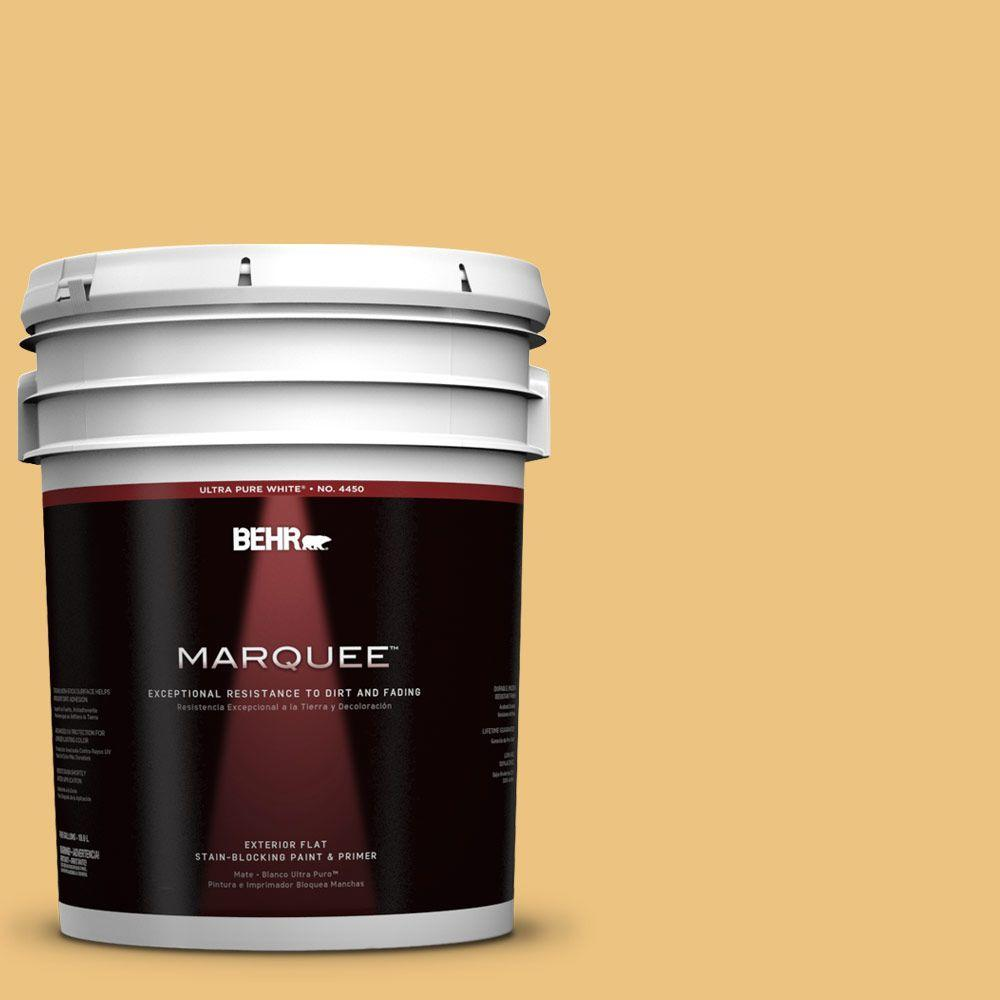 BEHR MARQUEE 5-gal. #350D-4 Wild Bamboo Flat Exterior Paint-445405 - The