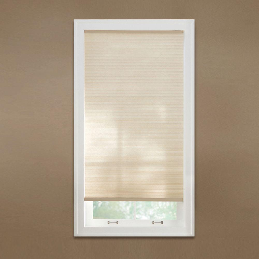 Cut to Width Sahara 9/16 in. Cordless Fabric Light Filtering Cellular