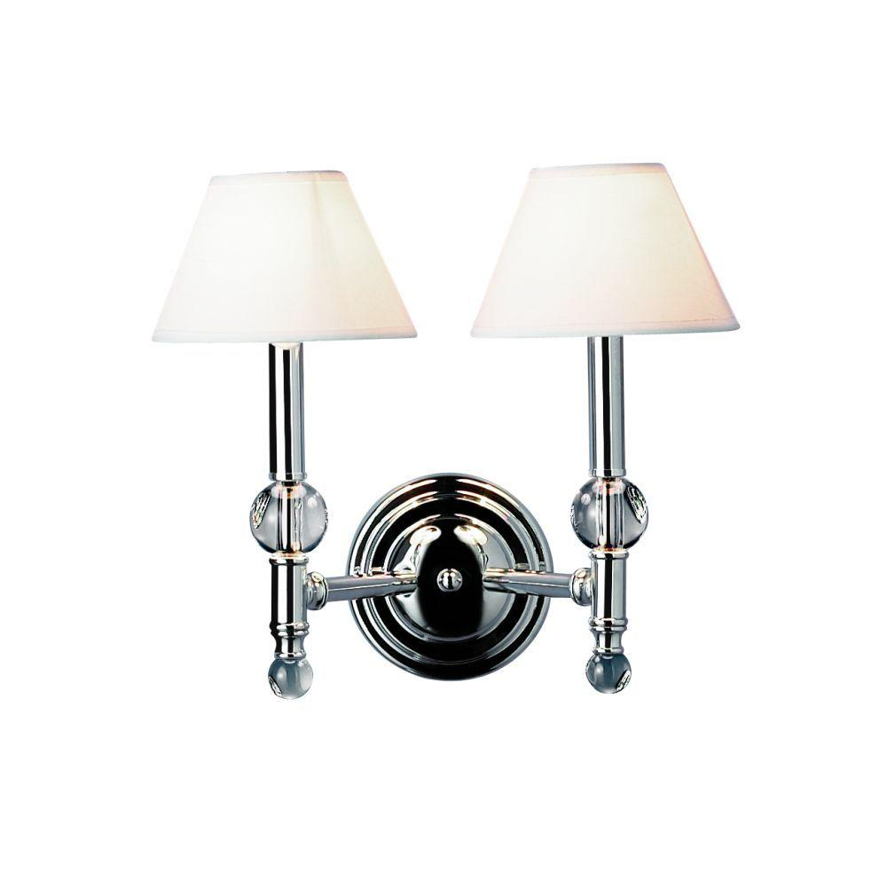 Eurofase Bauhaus Collection 2-Light Chrome Wall Sconce-DISCONTINUED