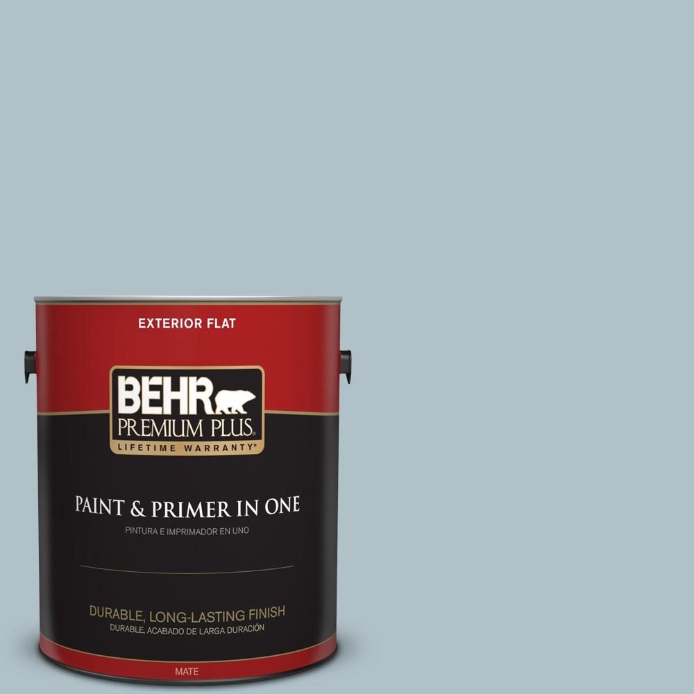 1 gal. #PPU13-14 Ozone Flat Exterior Paint