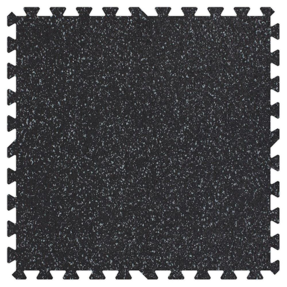Groovy Mats Grey Speck 3/8 in. Rubber Comfortable Mats - Small Sample Piece