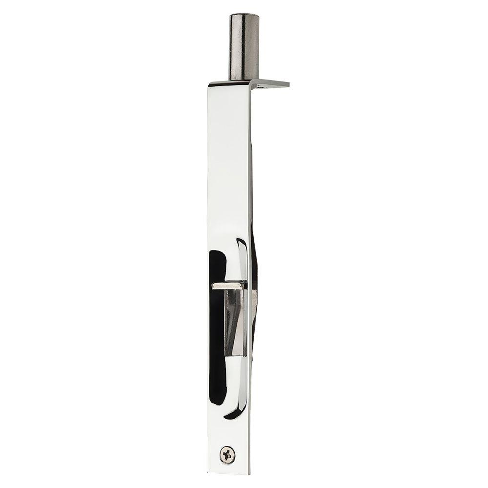 Baldwin Flush Bolt in Polished Chrome-9BR7020-003 - The Home Depot