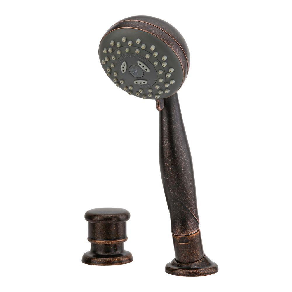 Roman Tub Hand Shower and Diverter Kit in Rustic Bronze