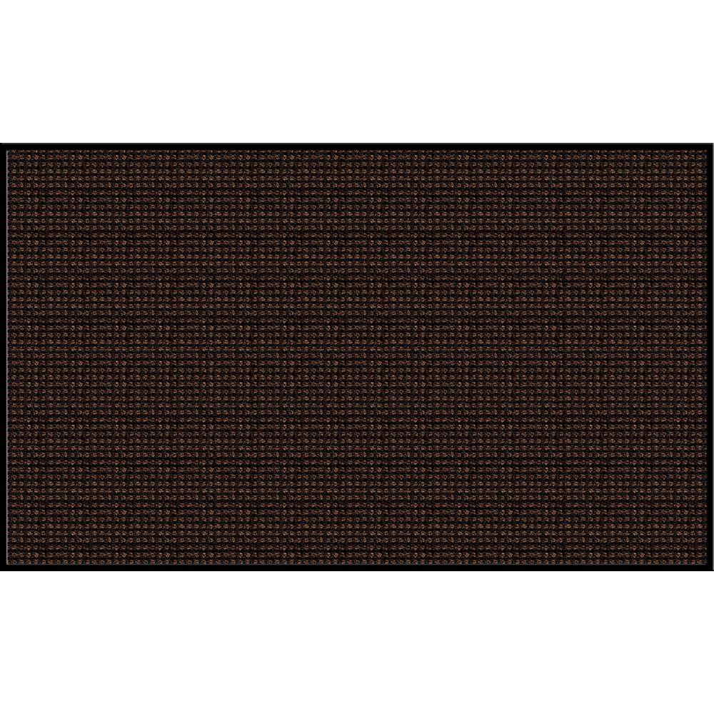 Apache Mills Prestige Plush Gray and Black Commercial 48 in. x 72 in. Olefin Fiber Entry Mat-DISCONTINUED