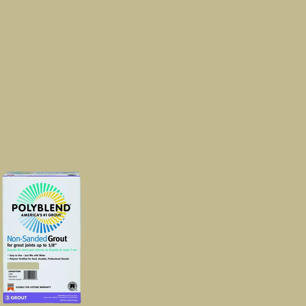 Grout: Custom Building Products Adhesives & Fillers Polyblend #122 Linen 10 lb. Non-Sanded Grout, Beige / Cream PBG12210