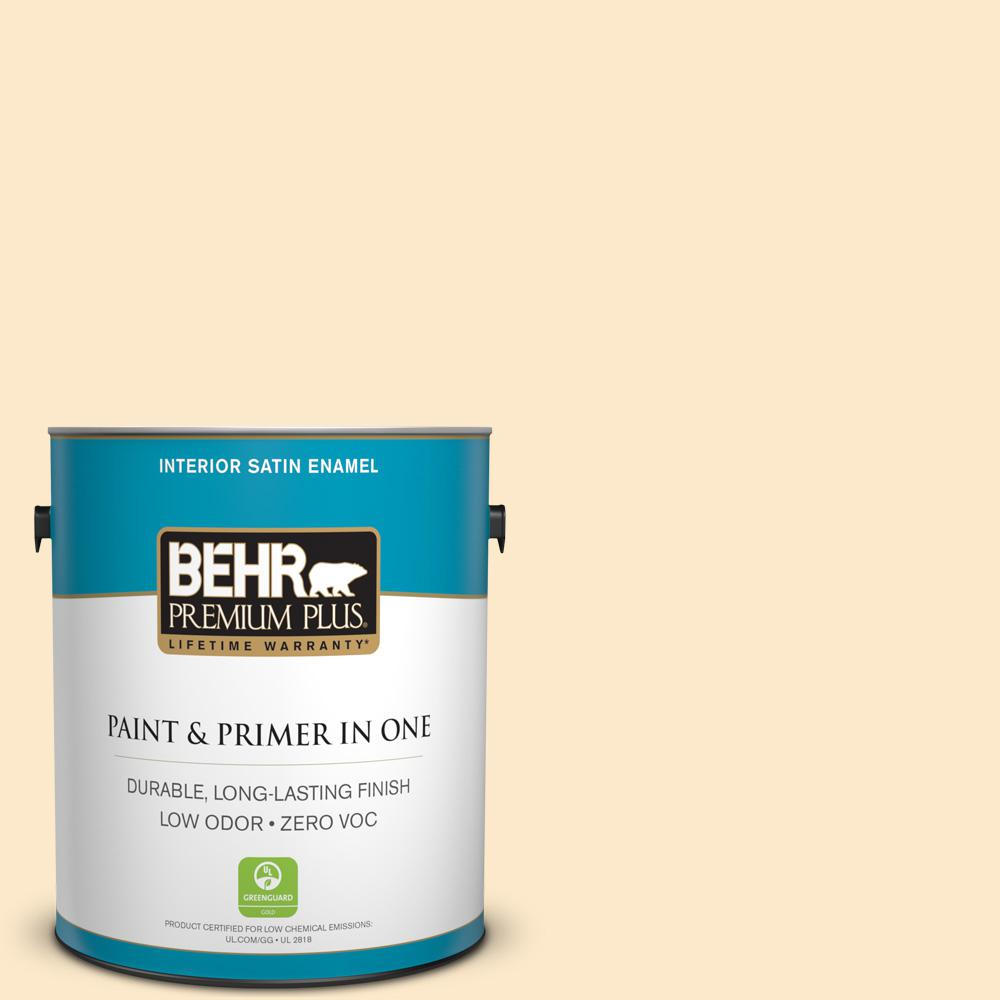 1-gal. #YL-W2 Spanish Lace Satin Enamel Interior Paint