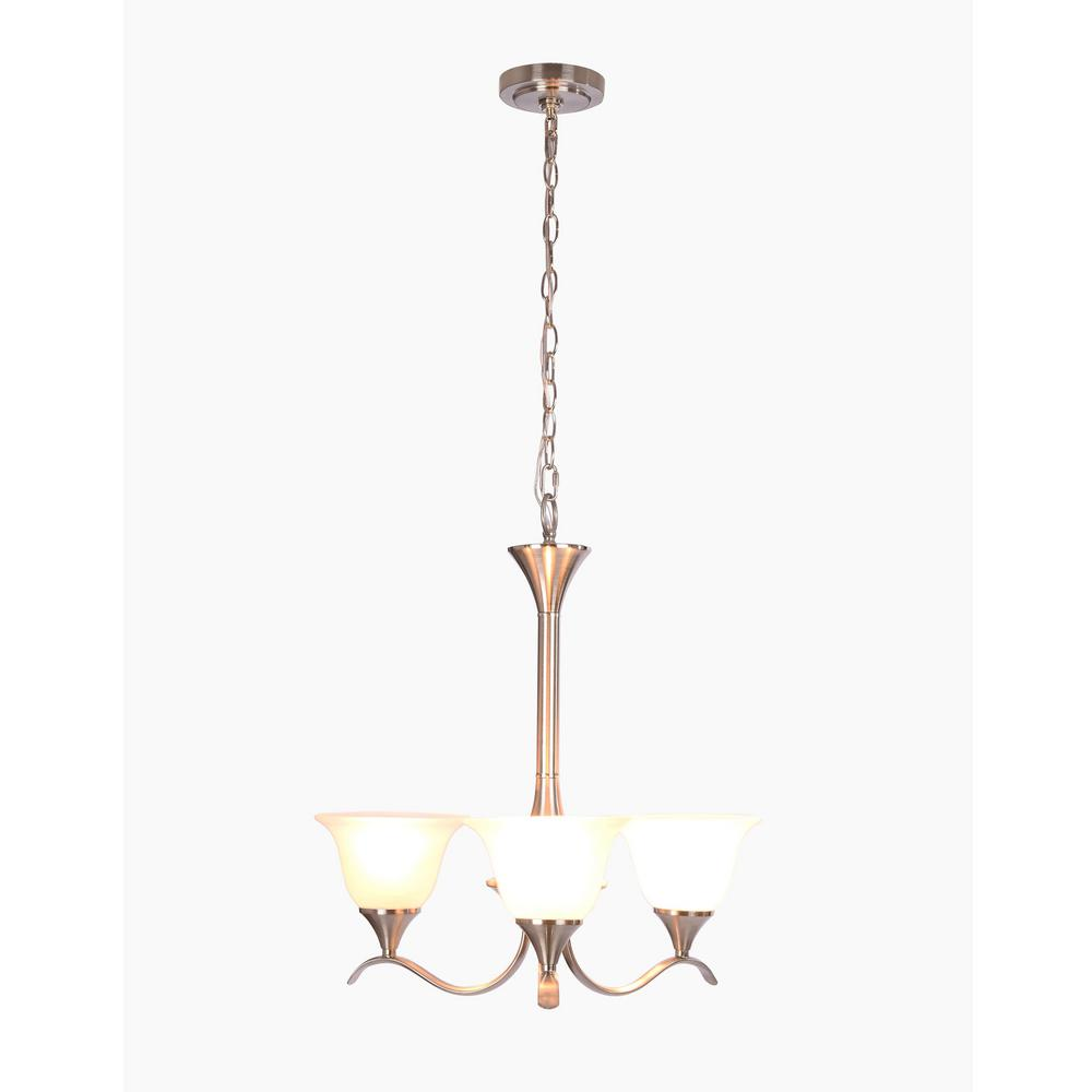 Santa Rita 3-Light Brushed Nickel Chandelier