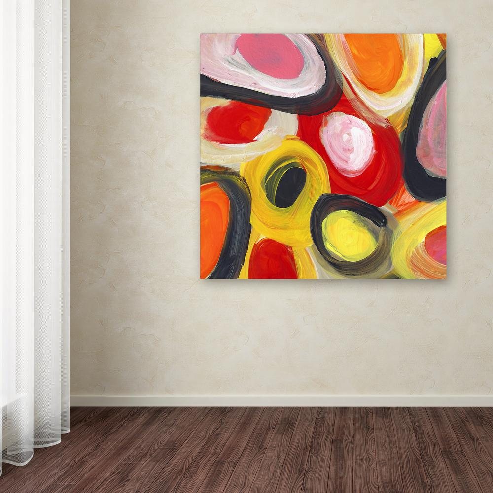 "24 in. x 24 in. ""Colorful Abstract Circles Square 3"" by"