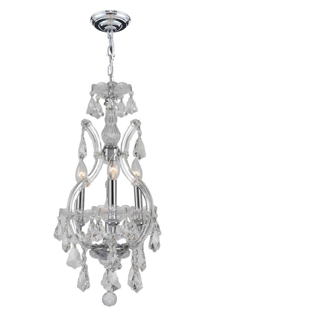 Maria Theresa Collection 4-Light Chrome and Crystal Chandelier