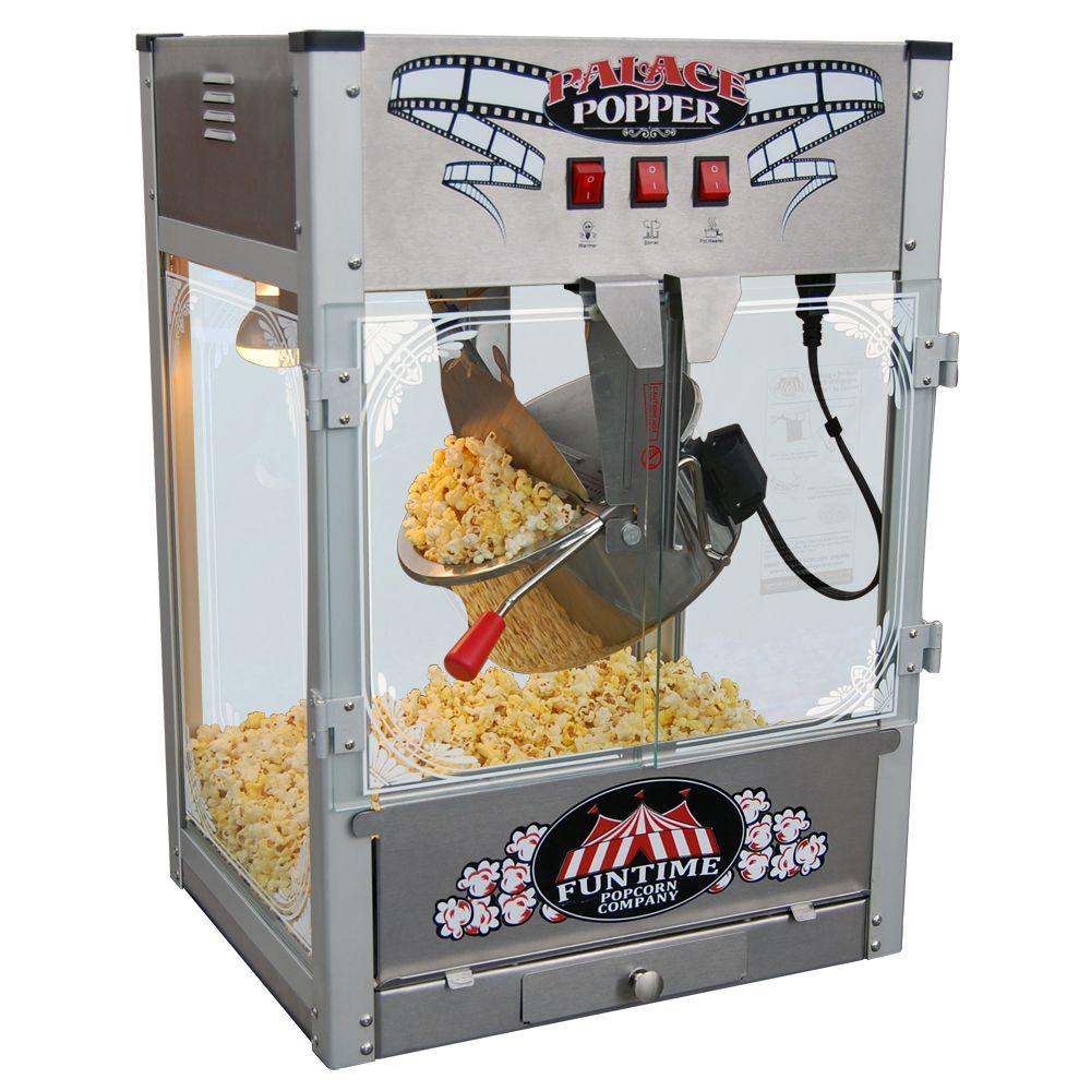 Funtime Palace 16 oz. Hot Oil Stainless Steel Popcorn Popper Machine-DISCONTINUED