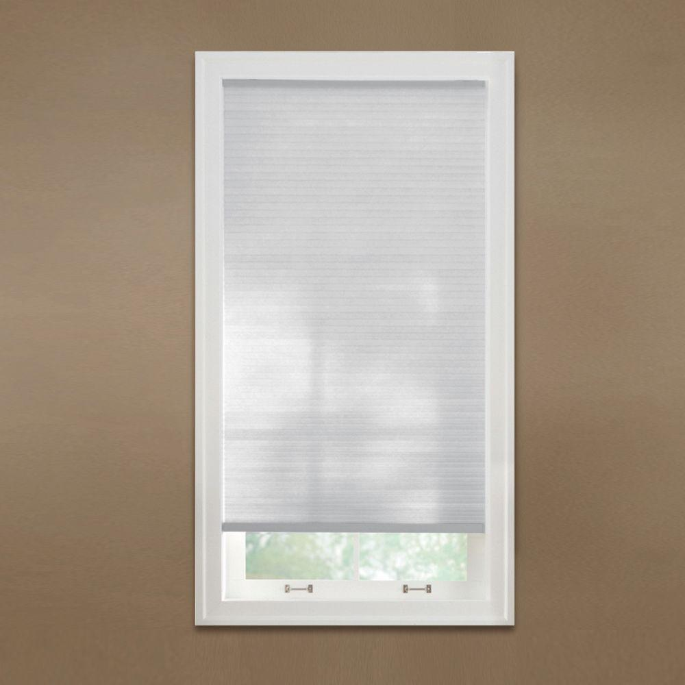 Home Decorators Collection Cut-to-Width Snow Drift 9/16 in. Cordless Light Filtering Cellular Shade - 46 in. W x 72 in. L
