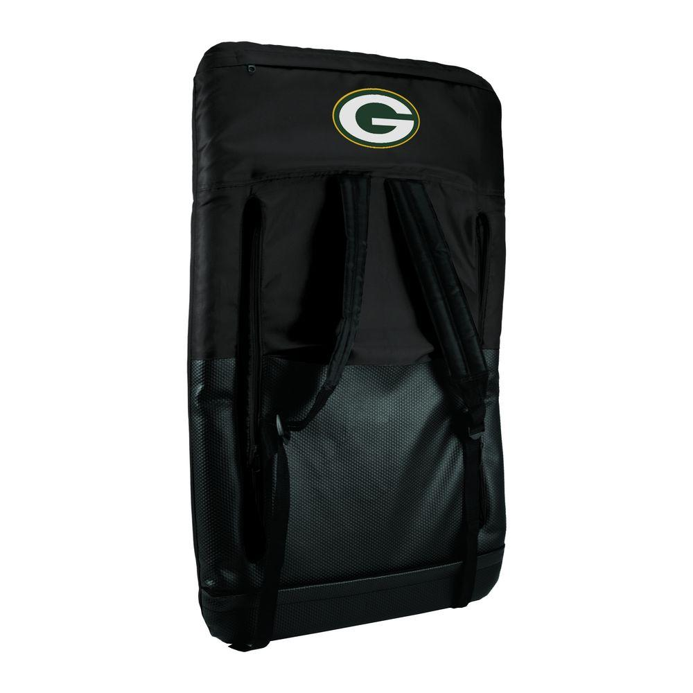 Ventura Green Bay Packers Black Patio Sports Chair with Digital Logo