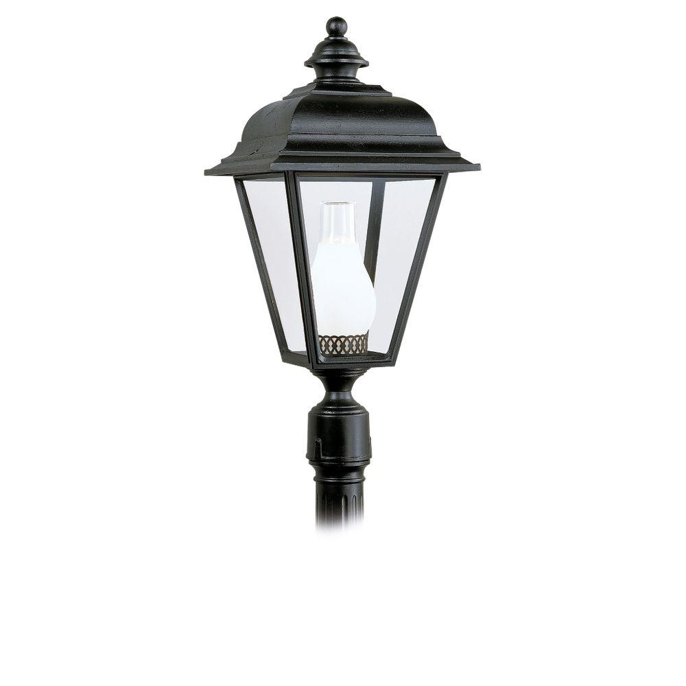 Sea Gull Lighting Bancroft 1-Light Outdoor Black Post Top