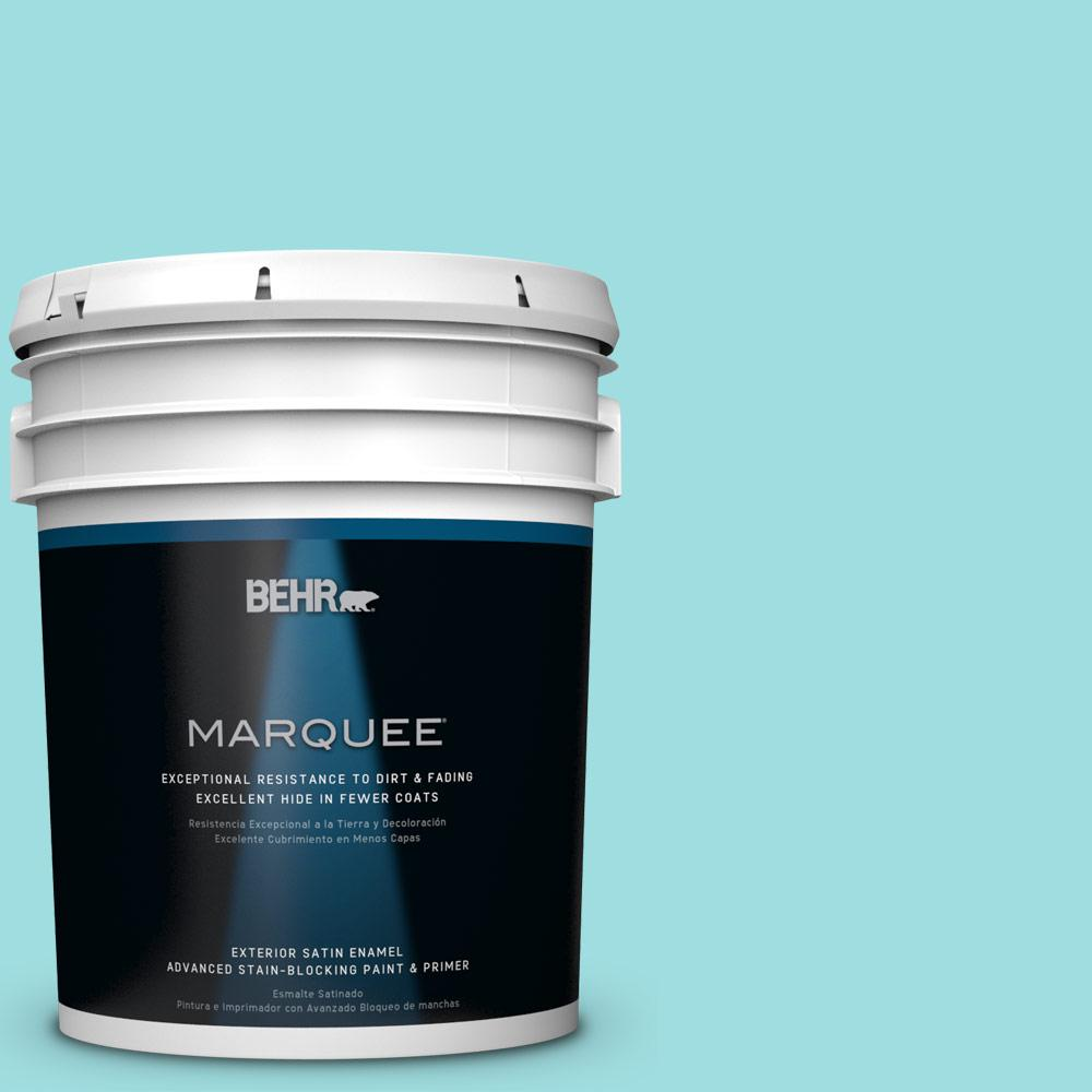 BEHR MARQUEE 5-gal. #P460-2 Tropical Waterfall Satin Enamel Exterior Paint