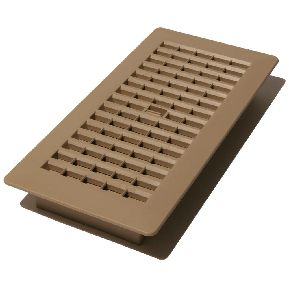 4 in. x 12 in. plastic floor register, taupe-pl412-ta - the home depot