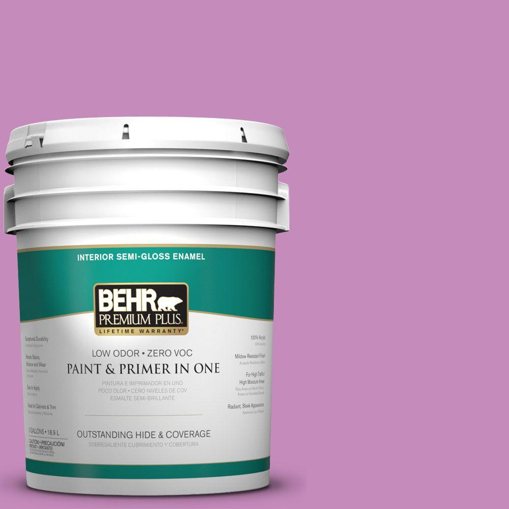 BEHR Premium Plus 5-gal. #P110-4 Rock Star Pink Semi-Gloss Enamel Interior
