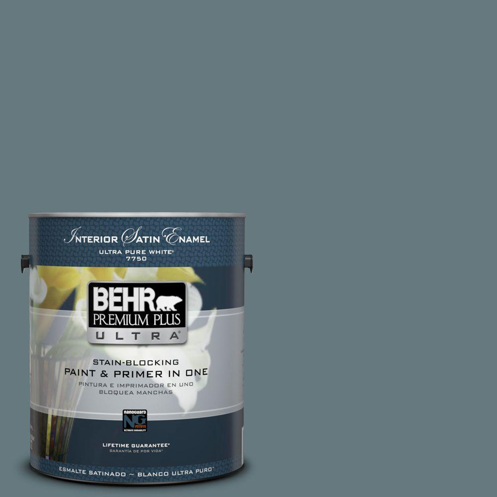 1-gal. #BXC-81 Crater Lake Satin Enamel Interior Paint
