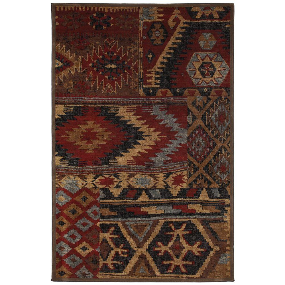 Mohawk Home Sabriel Coco Leaf 5 ft. 3 in. x 7 ft. 6 in. Area Rug