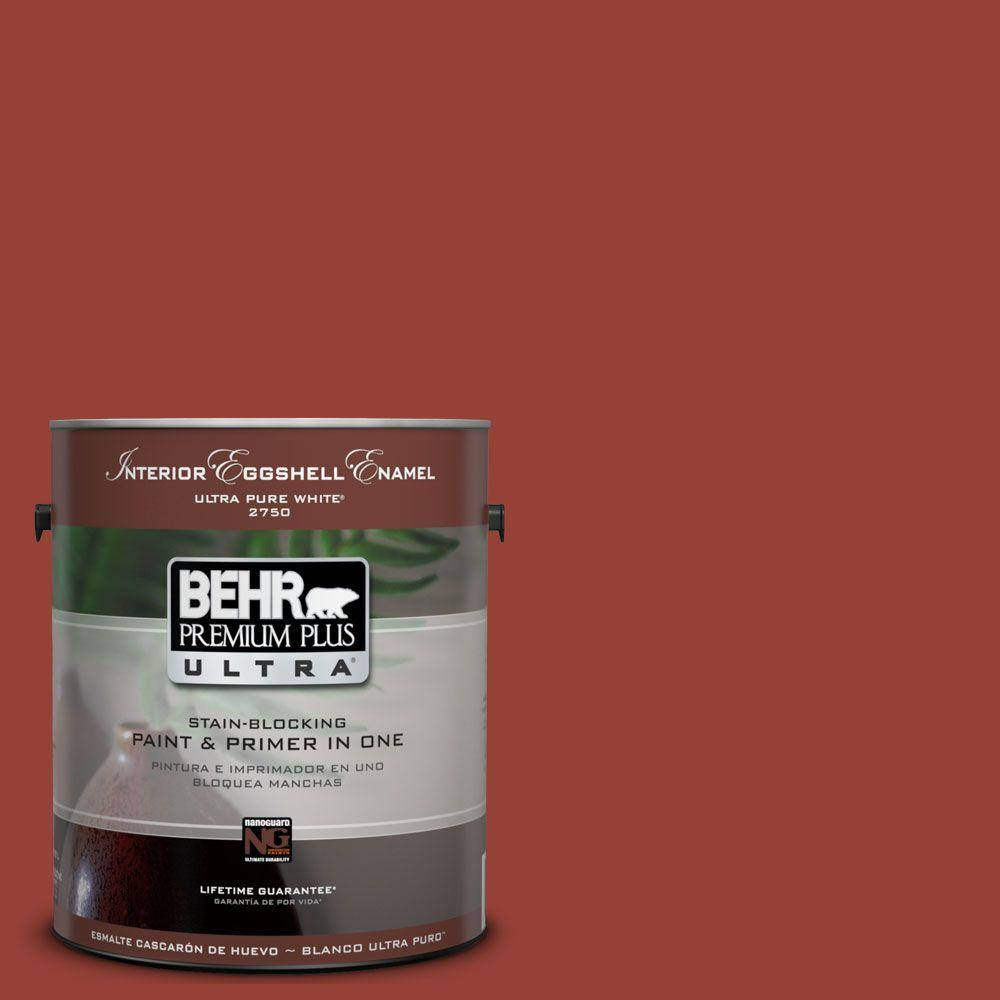 BEHR Premium Plus Ultra 1-Gal. #UL110-4 Morocco Red Interior Eggshell Enamel Paint-DISCONTINUED